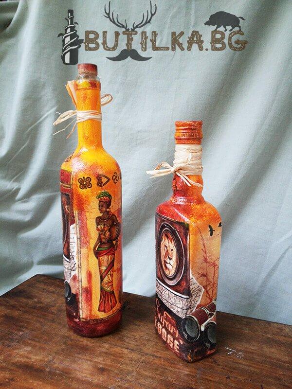 """Бутилка за домашен алкохол """"Сафари"""" (цената е за 1 брой)"""