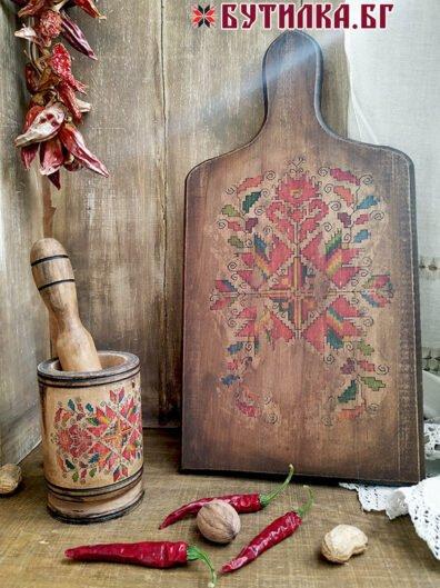 Фолклорен подарък дъска и хаванче