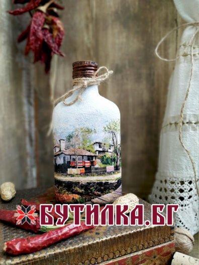 Фолклорна джобна бутилка