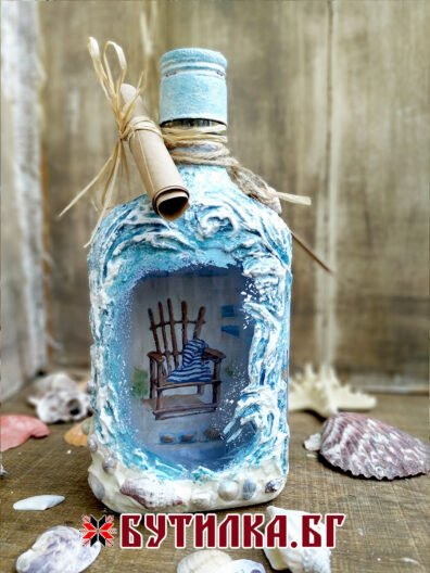 бутилка на морска тематика