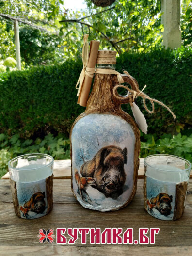 дамаджана и чаши за ловец
